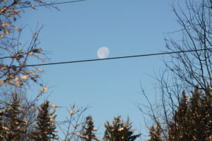 super moon on  a wire