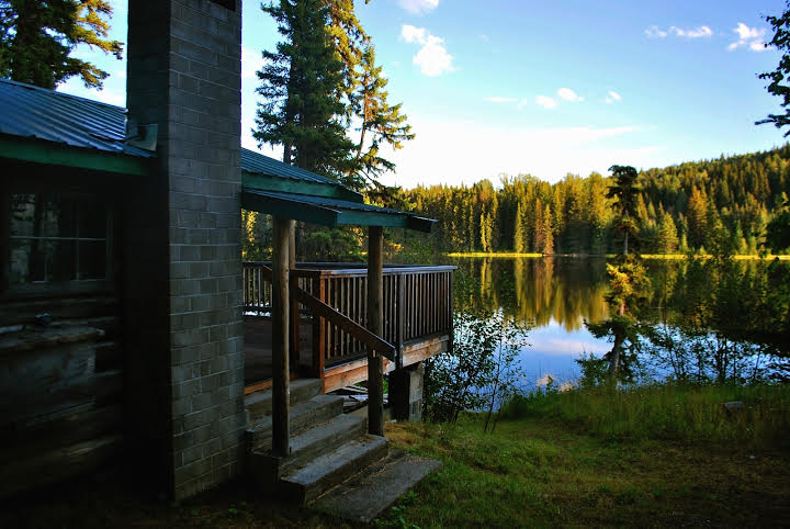 Sold waterfront log cabin on an excellent fishing lake for Fish lake cabins