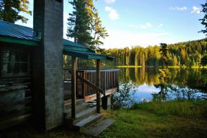 Waterfront Log Cabin on an Excellent Fishing Lake - 6964 McKinley Trail, Tisdall Lake, BC