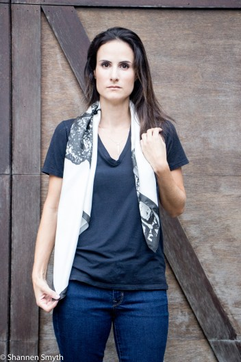 Bre Avery Silk Scarf and Park North Designs Necklace