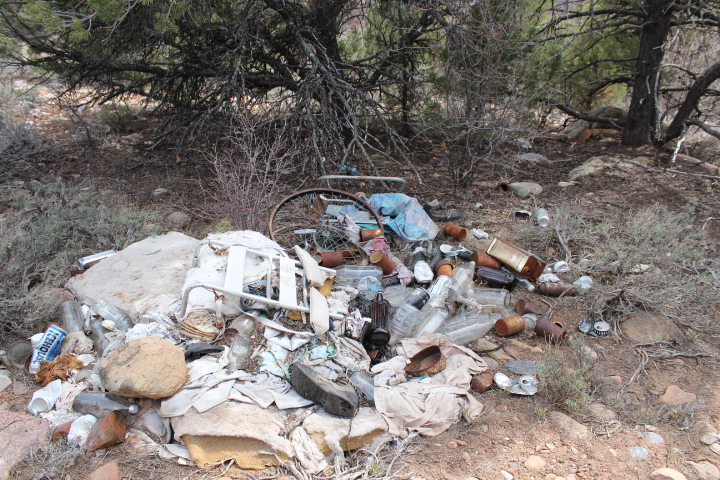This is what we were after on Sunday with our trash clean up event in Horse Gulch.