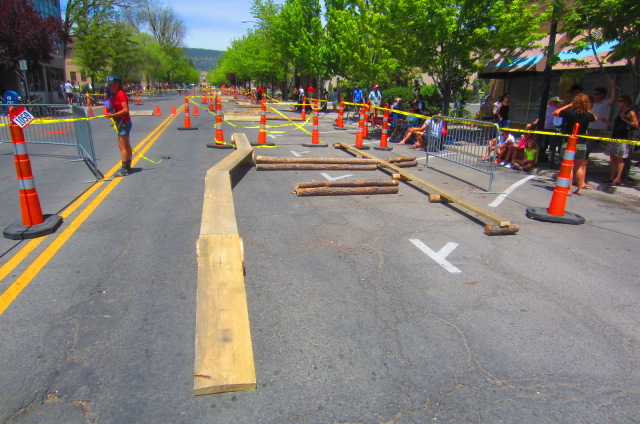 These freeride features were set up at the Iron Horse Bicycle Classic in Durango on Sunday.