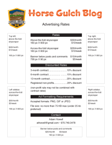 For a printable PDF version of this ad rate sheet, click HERE.