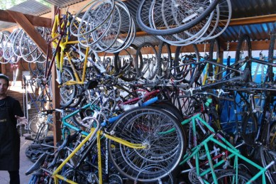Durango Cyclery has plenty of used frames and homeless bikes in storage that are in desperate need of owners.