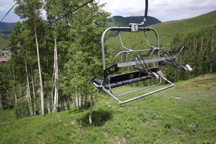 Check out the bike racks that they're using on the chairlift.
