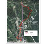 DMR's map of conceptual downhill trail, U.S. Forest Service decision memo gives permission