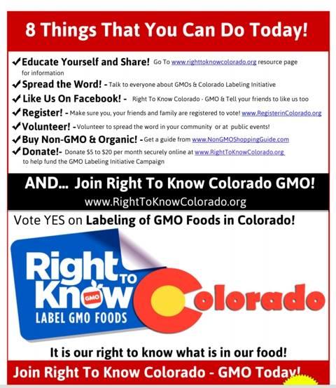 Right to Know Colorado flyer