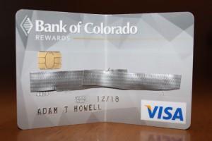 Visa credit card, Bank of Colorado