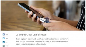 A screenshot from the banking solutions/credit card merchant processing page from Xerox.com