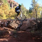 Pictures show: Hitting drops on a bike is freeride mountain bike culture