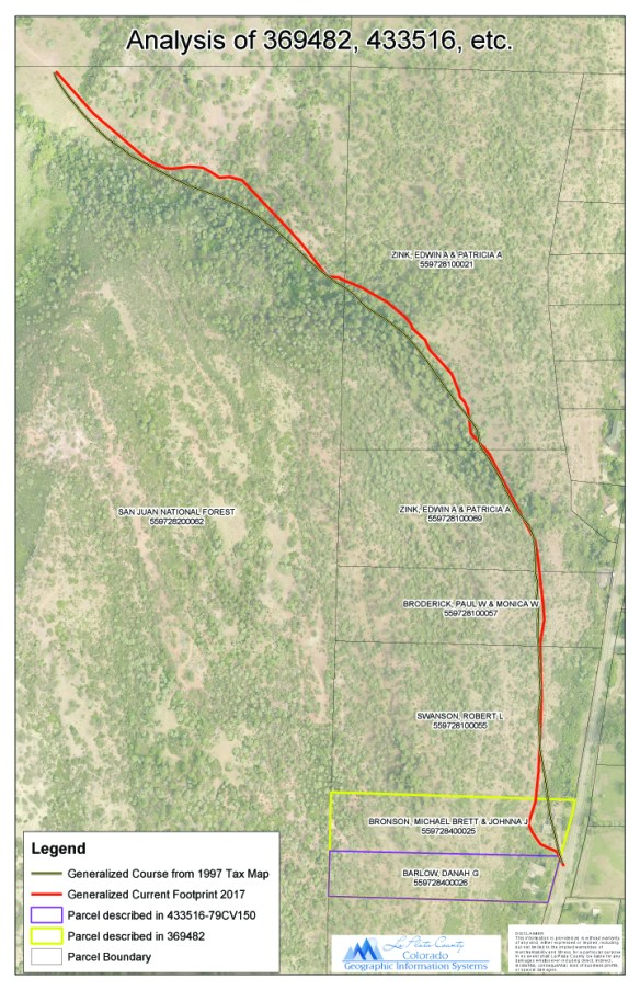 Map courtesy of La Plata County GIS Department.