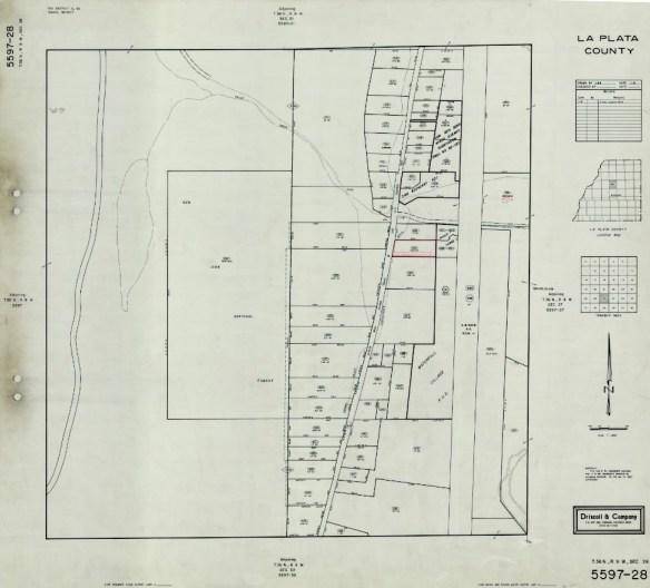La Plata County Map from 1980. Courtesy of La Plata County GIS Department.