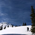 Splitboarding on Super Bowl Funday by Red Mountain Pass