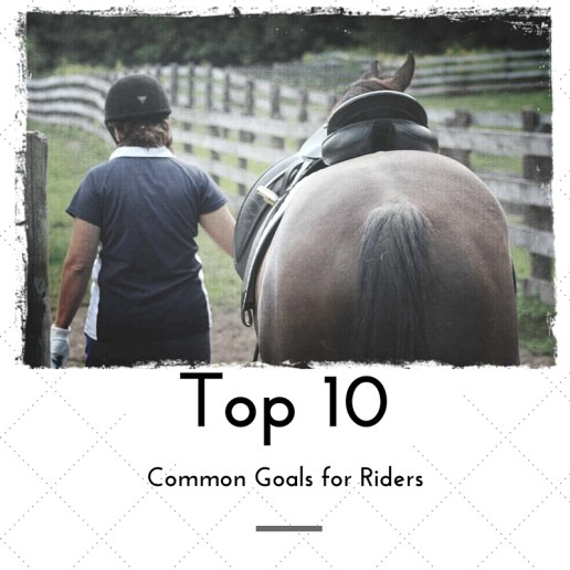 Top 10 common goals for riders