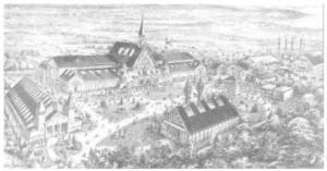 Den store hal for industri lå ud til Østergade