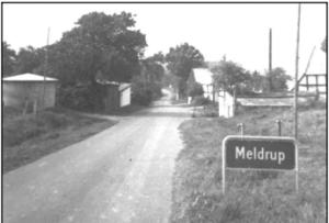 Vejen gennem Meldrup, ca. 1970.
