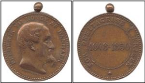 Erindringsmedalje for deltagelse i krigen 1848-50.