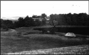 Vær gl. præstegård, der nedbrændte i 1927. Foto ca. 1914.
