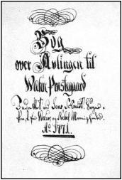 Forside af Jens Schmidts bog om avlingen, 1771, BOL OG BY, nr. 6, 1972.