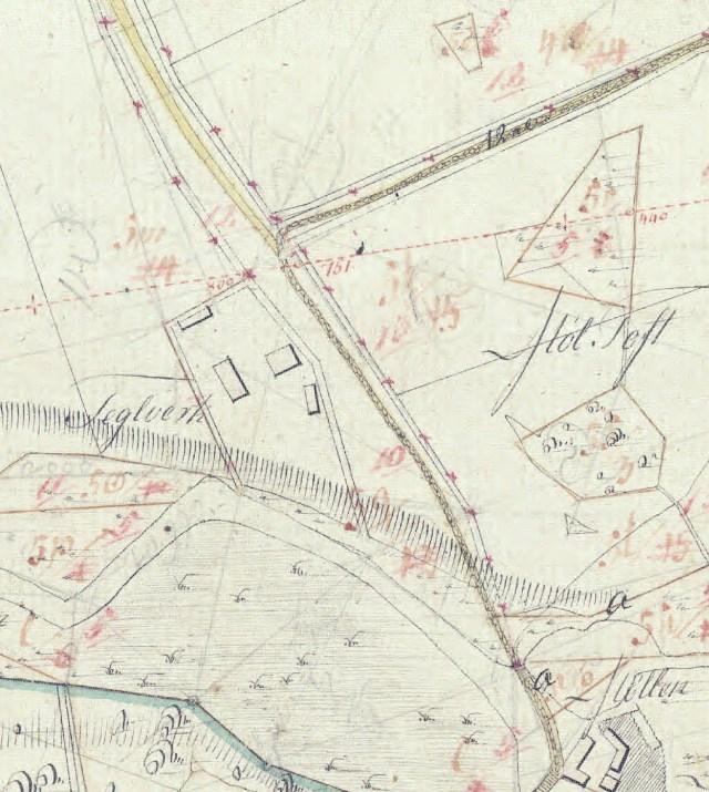 Bygholm Teglværk Ejerlavkort1819