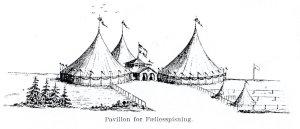 Pavillon for fællesspisning på festpladsen