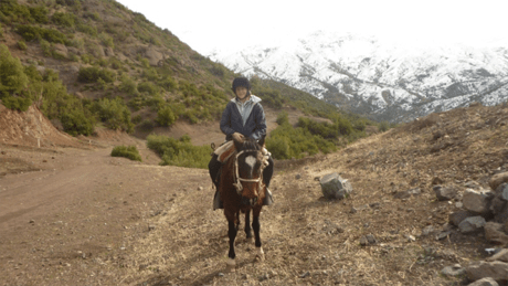 Horse riding in the Andes