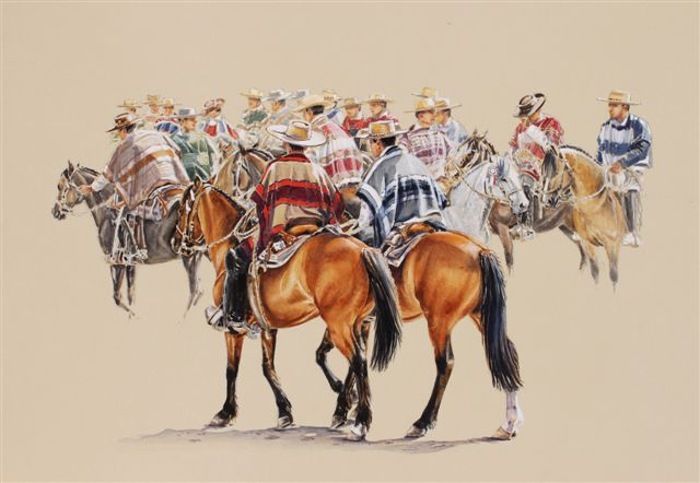 Horse paintings: Australian artist Ros Goody