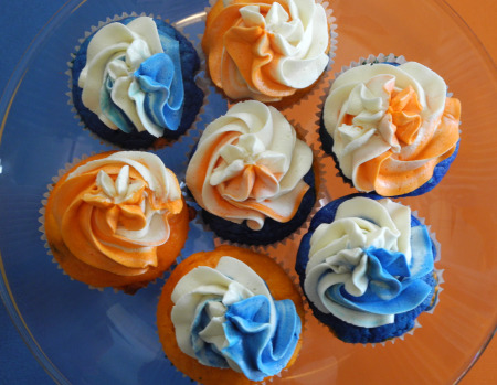 Tebow Cupcakes (photo courtesy of Reini Days)