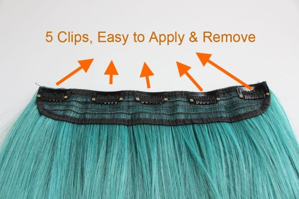 Ombre extension clips