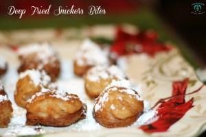 Snowbound? Make It A Movie Night with Deep Fried Snicker Bites!