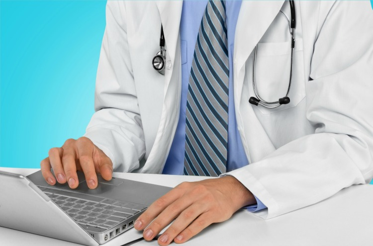 Doctor, Computer, Healthcare And Medicine.
