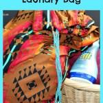 DIY Drawstring Laundry Bag Tutorial