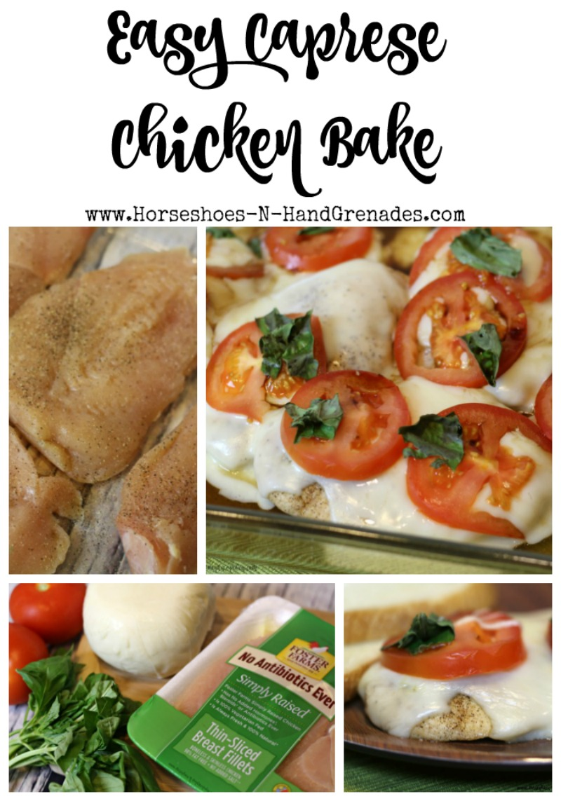 Easy Caprese Chicken Bake