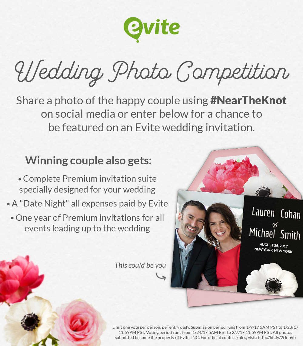 My Less Than Stellar Proposal and Evite\'s Wedding Photo Contest ...