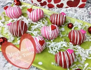 Valentine's Day Heart Shaped Cake Treats