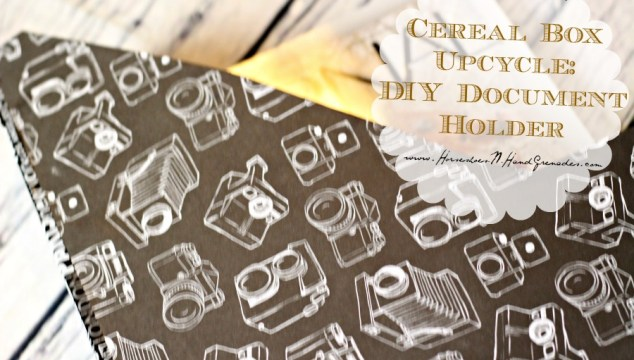 Help Schools and the Environment With A Cereal Box Upcycle Project – DIY Document Holder
