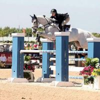 Eirin Bruheim and NLF Newsflash competed in the Medium Amateur-Owner Jumpers during WEF IX. Photo By: SportFot