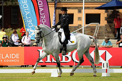 Rose's Rookie Reigns after Dressage at Adelaide