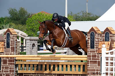 Molly Ashe and Kennzo Triumph in $15,000 Holiday & Horses USHJA International Hunter Derby