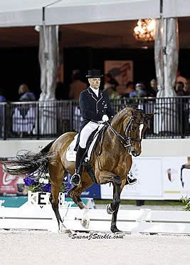 Lars Petersen and Mariett Lead the Competition in FEI Grand Prix Freestyle at AGDF 3 CDI W