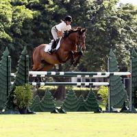 Linda Sheridan and Invitational rode to their second 1.30m-1.35m win at the Wellington Turf Tour