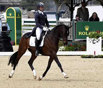 Michael Pollard (USA) Leads the 2014 Rolex Kentucky Three-Day Event after Dressage Day One