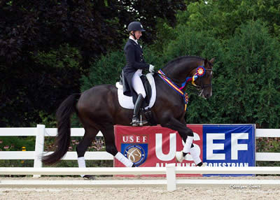 Ripline and Sanceo Earn National Titles at USEF Young & Developing Horse Dressage Nat'l Championships