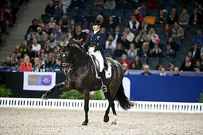Tinne Tops Reem Acra Leg at Stockholm