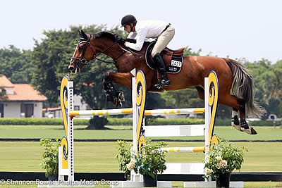 Adam Prudent Rides Vasco to the Win in the 1.30-1.35m Class at Wellington Turf Tour