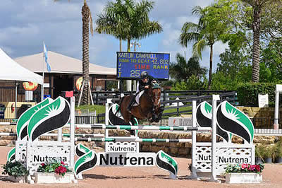 Kaitlin Campbell and Rocky W Win $25,000 Nutrena Spring 1 Grand Prix at PBIEC