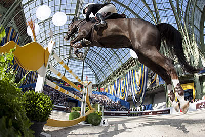 The Grand Palais Flies the Swiss Flag after the Victory of Romain Duguet
