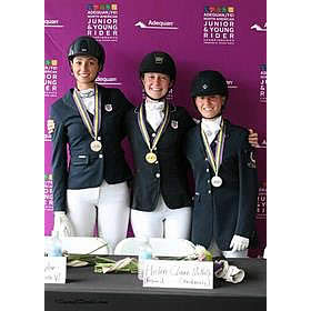 Helen Claire McNulty and Natalie Pai Earn Dressage Gold Medals at NAJYRC
