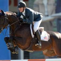 McLain Ward of USA riding HH Carlos Z in the TELUS Cup