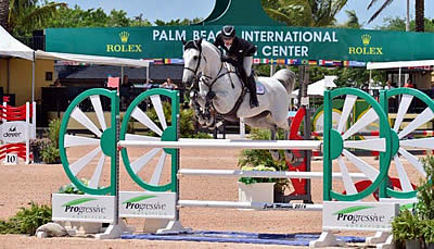 Mark Bluman and Thriller P Take $10,000 Accuhorsemat Open Welcome at PBIEC